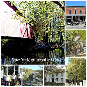 New York-Vermont Collage with text