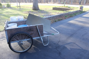 Cart in driveway USE