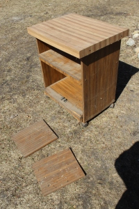 Microwave table for brooding table