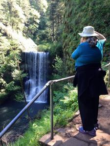 Donna at Silver falls, Oregon