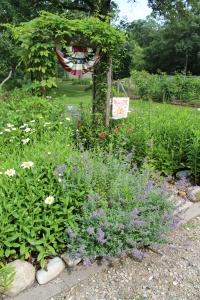 Catmint-trellis-garden gate USE
