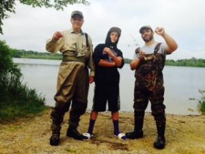 Threesome fishermen