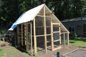 Chicken run with wire completed USE