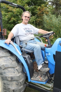 Tom on tractor USE
