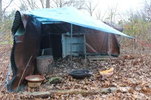 Outside vegging area tarp USE