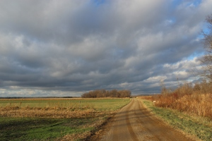 Todd Farm grat sky and road
