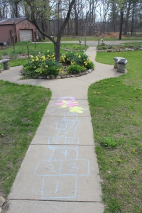 Sidewalk and chalk fun