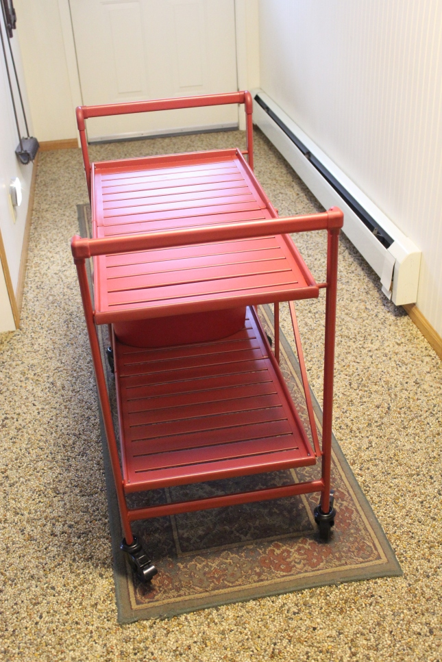 red-cart-in-hallway-use